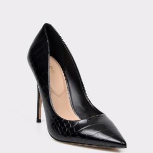 Pantofi ALDO negri Stessy din piele ecologica