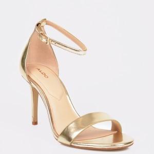Sandale ALDO aurii, Eriressi, din piele ecologica