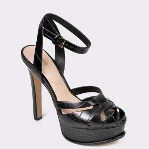 Sandale ALDO negre, Lacla, din piele ecologica