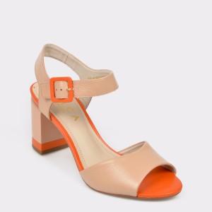Sandale EPICA bej, 9084082, din piele naturala