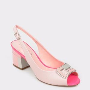 Sandale EPICA roz, 8755207, din piele naturala