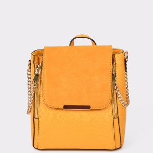 Rucsac CALL IT SPRING galbena Thig701 din piele ecologica