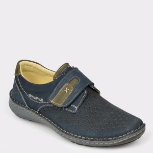 Pantofi OTTER bleumarin, 9583, din nabuc