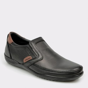 Pantofi OTTER negri, 220, din piele naturala