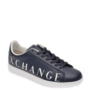 Pantofi ARMANI EXCHANGE bleumarin, XUX033, din piele ecologica