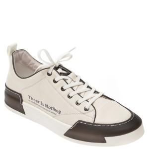 Pantofi BITE THE BULLET albi, 22069, din piele naturala