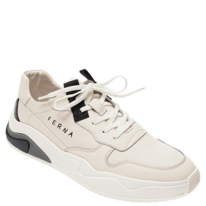 Pantofi BITE THE BULLET albi, HL, din piele naturala