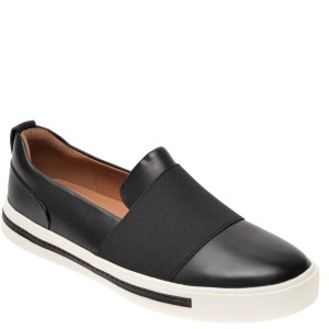 Pantofi CLARKS alb-negru, Un Maui Strap, din piele naturala