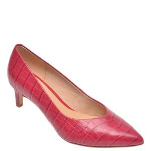 Pantofi CLARKS fucsia, Laina55 Court, din piele naturala