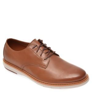 Pantofi CLARKS maro, Draper Lace, din piele naturala