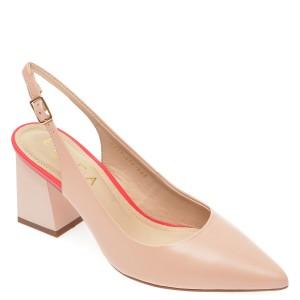 Pantofi EPICA nude, 8778404, din piele naturala