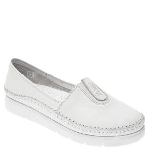 Pantofi FLAVIA PASSINI albi, 1712, din piele naturala