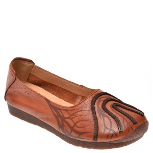 Pantofi Flavia Passini Maro, C823, Din Piele Naturala