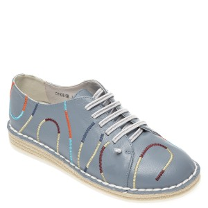 Pantofi IMAGE albastri, D19289, din piele naturala