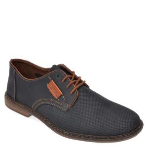 Pantofi RIEKER bleumarin, 13439, din piele naturala