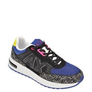 Pantofi sport ARMANI EXCHANGE albastri, XUX052, din material textil