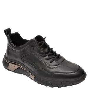 Pantofi sport BITE THE BULLET negri, 20327, din piele naturala