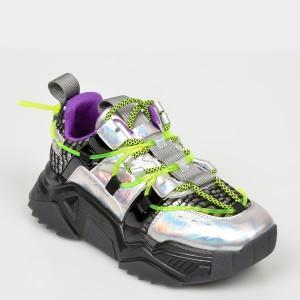 Pantofi sport FLAVIA PASSINI argintii, M615, din piele naturala