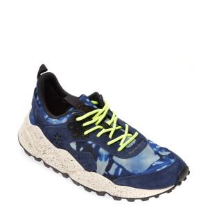 Pantofi sport FLOWER MOUNTAIN albastri, 2014764, din material textil si piele intoarsa