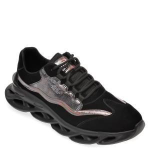 Pantofi sport GRYXX negri, 29031, din material textil si piele ecologica