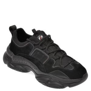Pantofi sport GRYXX negri, 5711, din material textil si piele intoarsa