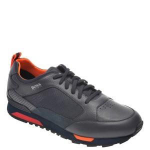 Pantofi sport HUGO BOSS bleumarin, 8483, din material textil si piele naturala