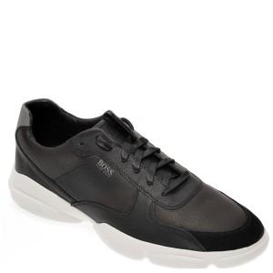 Pantofi sport HUGO BOSS negri, 8502, din piele naturala