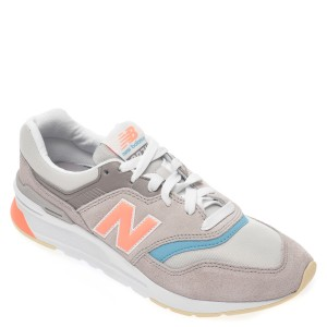 Pantofi sport NEW BALANCE gri CW997, din material textil si piele intoarsa