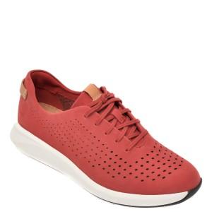 Pantofi vara CLARKS rosii, Un Rio Tie, din nabuc