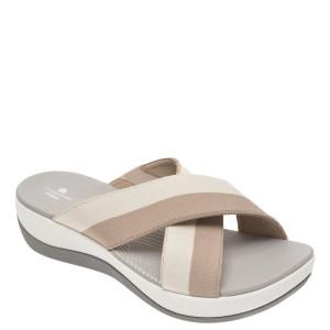 Papuci CLARKS gri, Arla Elin, din material textil