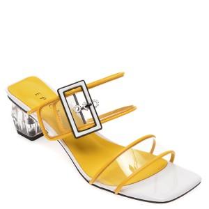 Papuci EPICA galbeni, HD2, din piele ecologica
