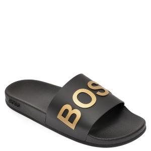 Papuci HUGO BOSS negri, 5152, din pvc