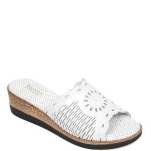Papuci IMAGE albi, 2005, din piele naturala