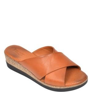 Papuci IMAGE maro, 2010, din piele naturala