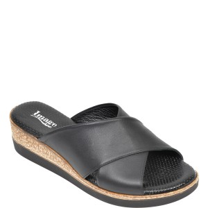 Papuci IMAGE negri, 2010, din piele naturala