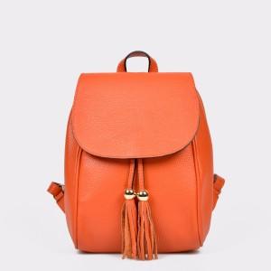 Rucsac EPICA portocaliu, Aa430, din piele naturala