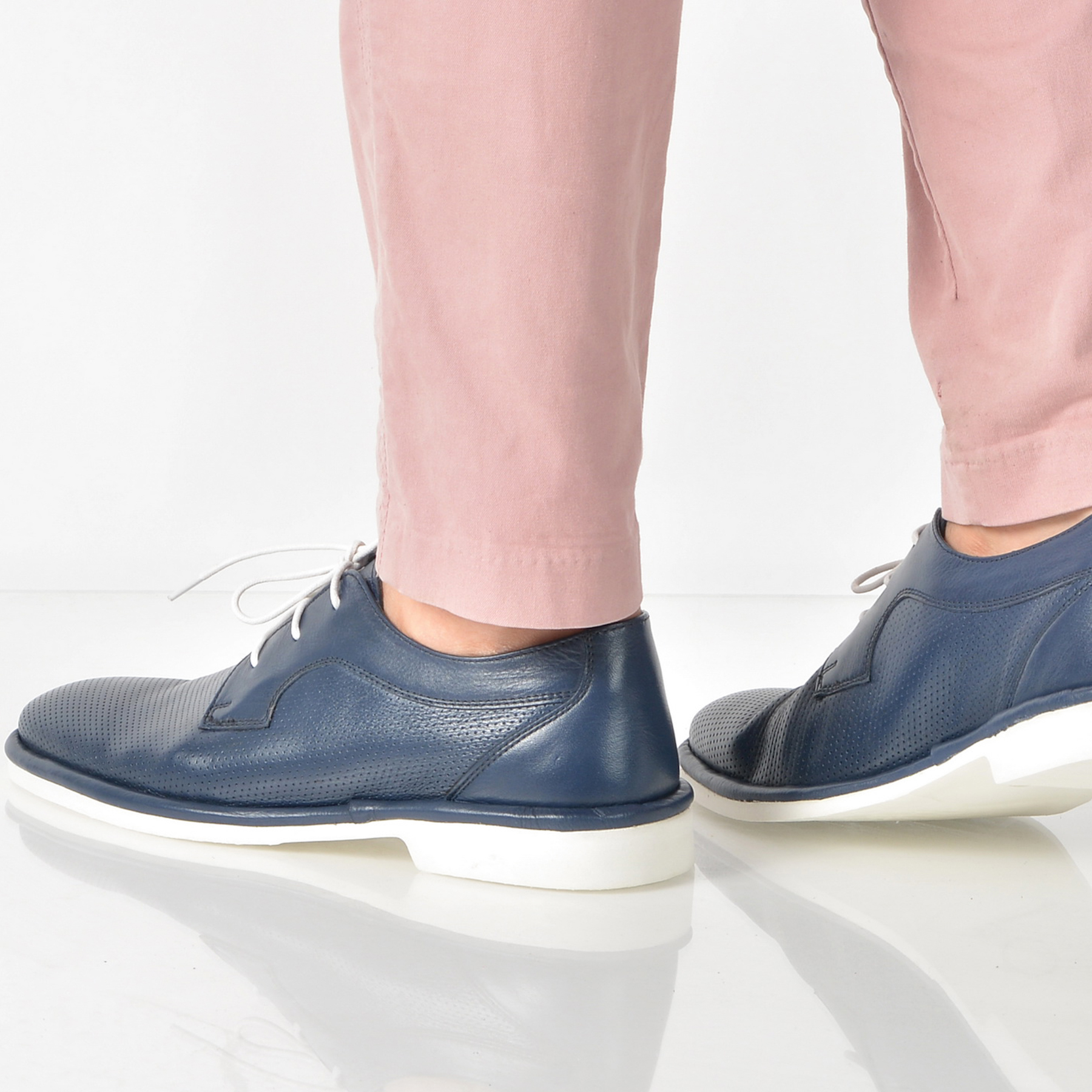 Pantofi OTTER bleumarin, 4450, din piele naturala