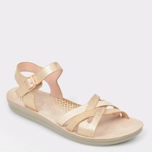Sandale IMAGE aurii 2237L26 din piele ecologica