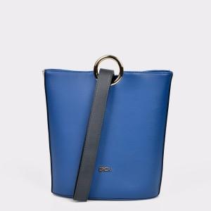 Poseta EPICA albastra, 1127, din piele ecologica