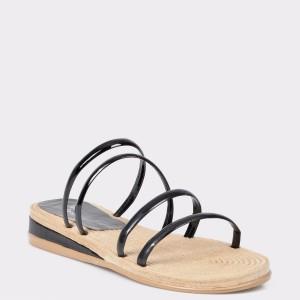 Papuci FLAVIA PASSINI negri, din piele ecologica