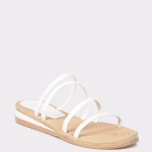 Papuci FLAVIA PASSINI albi, din piele ecologica