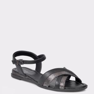 Sandale FLAVIA PASSINI negre, din piele ecologica
