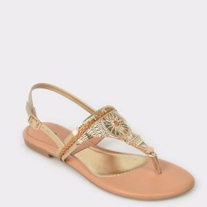 Sandale FLAVIA PASSINI aurii, din piele ecologica