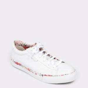 Pantofi sport FLAVIA PASSINI albi, W4504, din piele ecologica