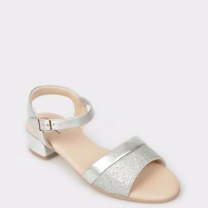 Sandale FLAVIA PASSINI argintii, din piele ecologica