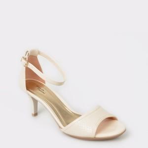Sandale FLAVIA PASSINI crem, din piele ecologica
