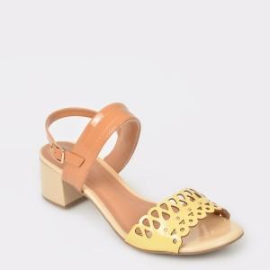 Sandale FLAVIA PASSINI galbene, din piele ecologica