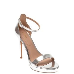 Sandale ALDO argintii, Madalene040, din piele ecologica