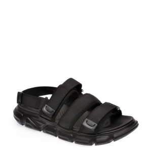 Sandale BITE THE BULLET negre, 9592201, din material textil