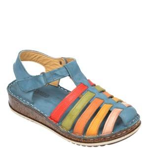 Sandale CONSUELO albastre, 1372, din piele naturala
